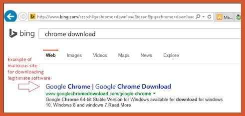 "how computer virus spread through malicious query ""chrome download"""